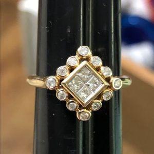 Jewelry - 14k GOLD PAVE SET DIAMOND RING